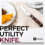RUSTIC Rosewood Steak Knife Set - FOXEL