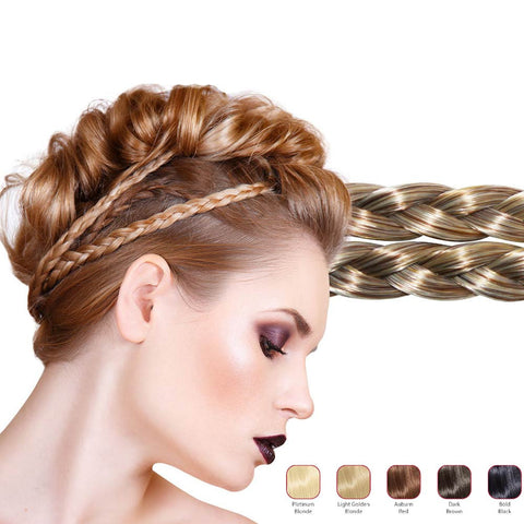 Hollywood Hair Double Braid Headband