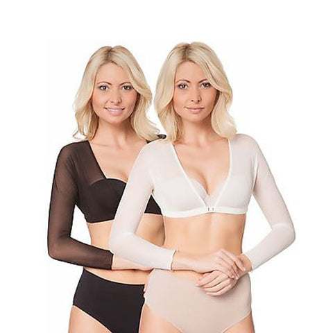 Tone Wear Amazing Arms 2 Pack - Arm Shaping Camisole for shapely firm arms | Two per pack - one Nude, one Black| Various Sizes Available
