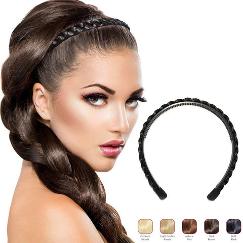 Buy 2 Hollywood Hair braided Alice Band get 1 Free