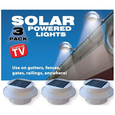 3 Piece Deal - Outdoor Solar Gutter LED Lights