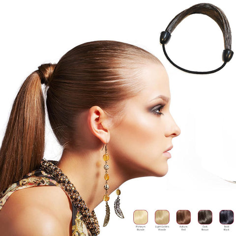 Buy 2 Hollywood Hair Elastic Hair Tie and get 1 Free Fringe with Bangs