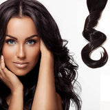 "Hollywood Hair 18"" Clip-in Hair Extensions Full Head Promo Pack - 3 Rows for the price of 2"
