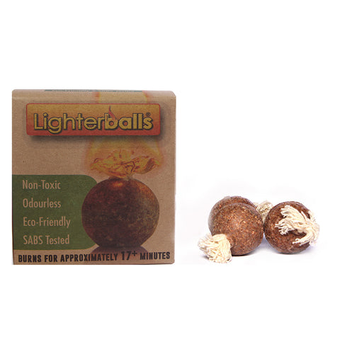 Lighterballs Organic Fire Starter Balls | Pack of 12