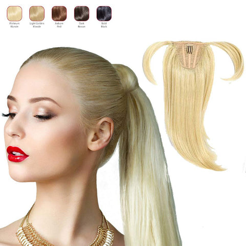 Buy 2 Hollywood Hair Ponytail Hair Piece and get 1 Free Fringe with Bangs