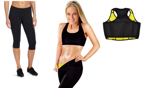 Thermo Slim Workout Knee-Pants & Crop Top Gym Set