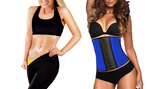 Thermo Slim Workout Knee Pants and Crop Top Set plus a free Waist Trainer