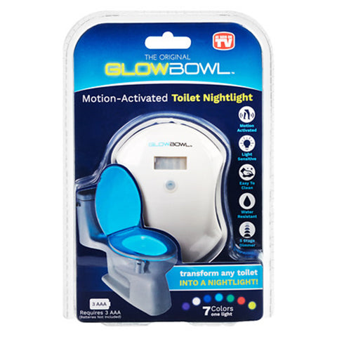 Motion Activated Toilet Bowl Glow Light
