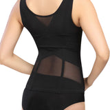 Tone Wear Black Lace Body Shaper Waist Cincher for Women