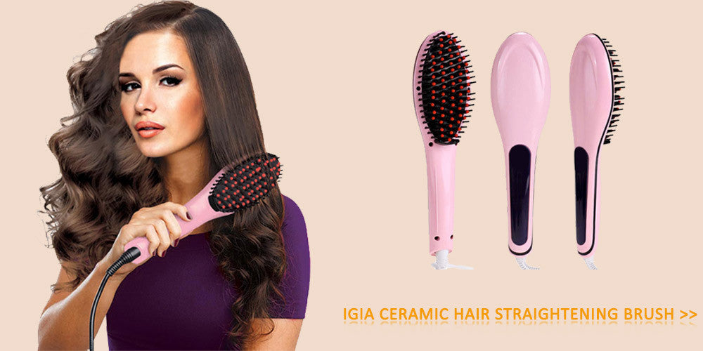 Shop For IGIA Ceramic Hair Straightener in Pink