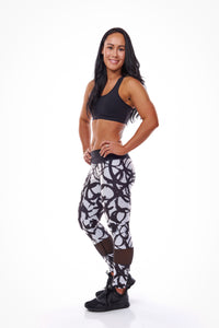 Swirl with Mesh - Long Length Legging