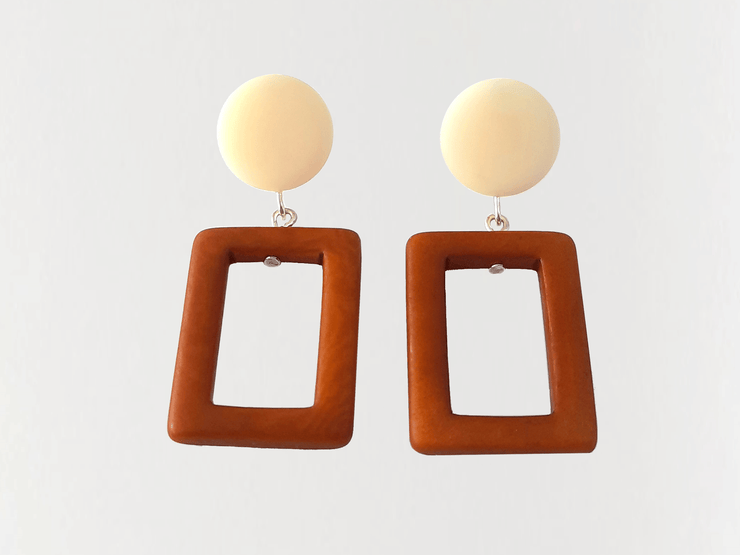 Tagua Earrings A8