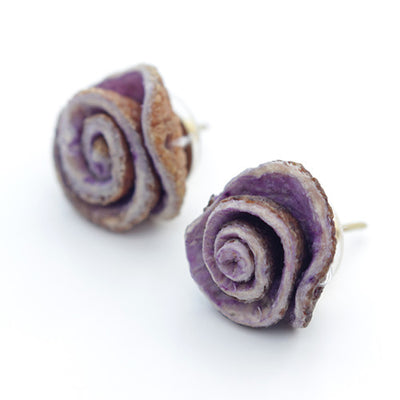 Orange Peel Studs in Lilac