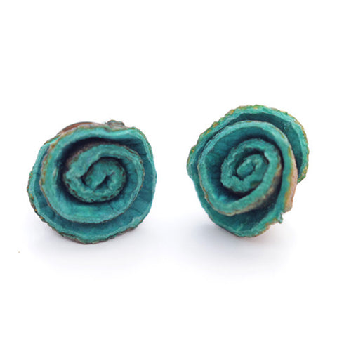 Orange Peel Studs in Turquoise