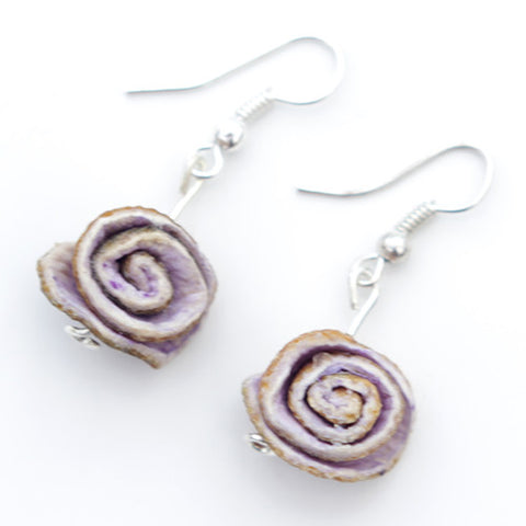Orange Peel Earrings in Lilac