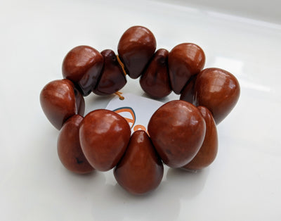 Tear Drop Bracelet in Brown
