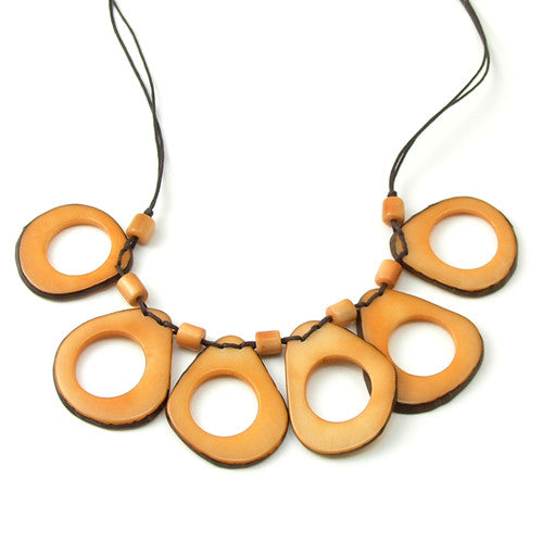 Limbs Necklace in Orange
