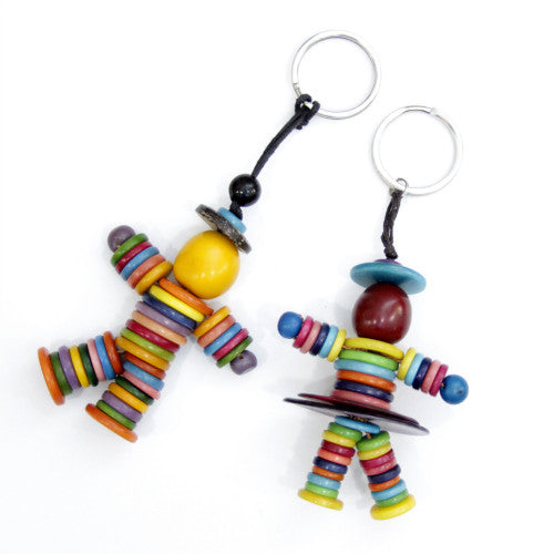 Person Tagua Keyring in Multicolour
