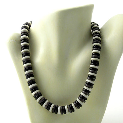 Zebra Necklace in Winter Colours