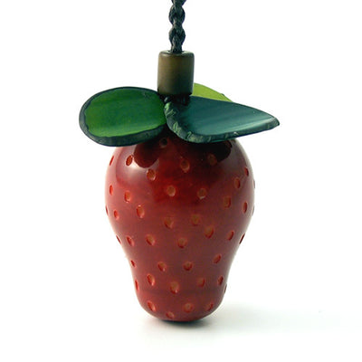 Strawberry Tagua Keyring