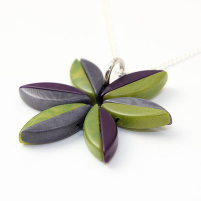 Elektra Purple Tagua Necklace
