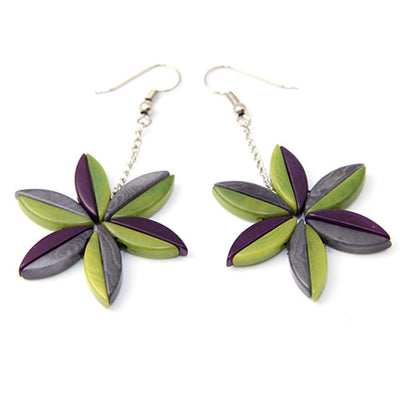 Elektra Purple Tagua Earrings
