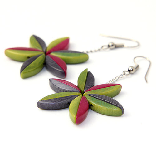 Elektra Pink Tagua Earrings