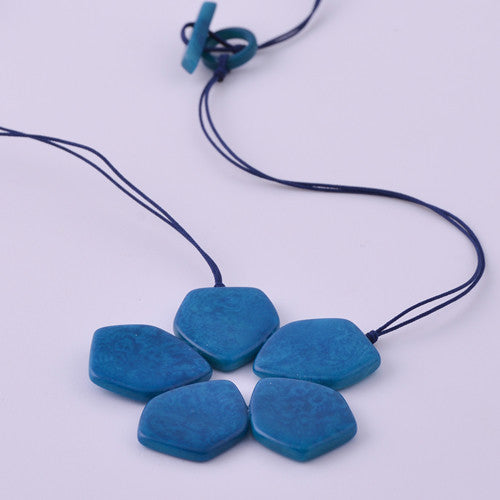 Pentaflor Necklace in Blue