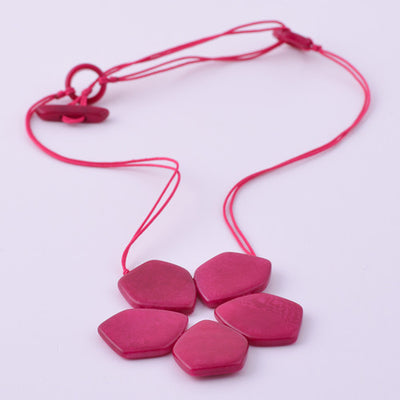 Pentaflor Necklace in Fuchsia