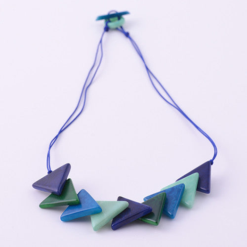 Triaguzo Necklace in Ocean