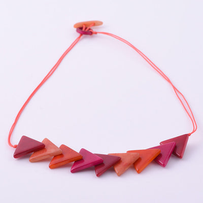 Triaguzo Necklace in Sunset