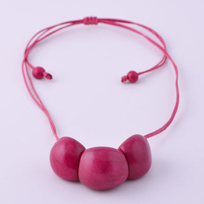 Bab Necklace in Fuchsia