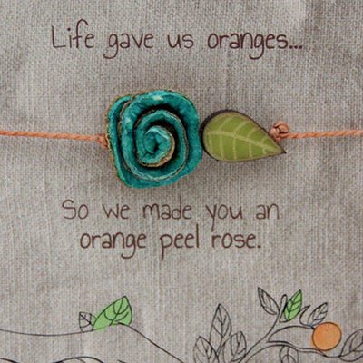 Orange Peel String Bracelet in Turquoise