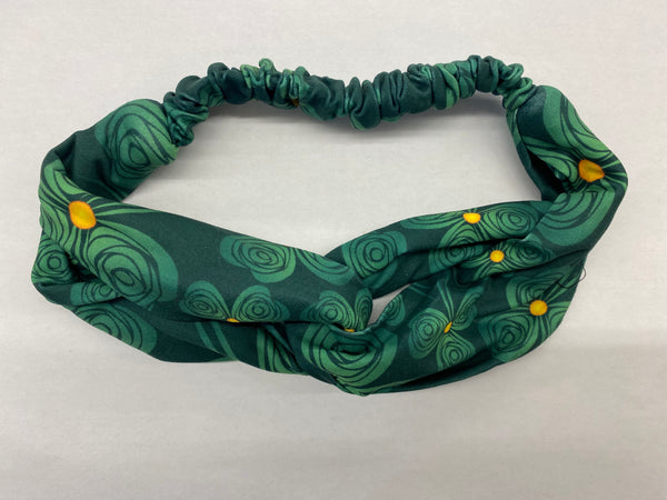 Head band in Shamrock Swirls
