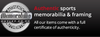 Authenticity gauranteed, verified and assured sports memorabilia and framing