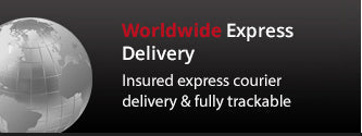 Worldwide Express delivery subject to standard international shipping rates and ina ccordance with current Terms and Conditions