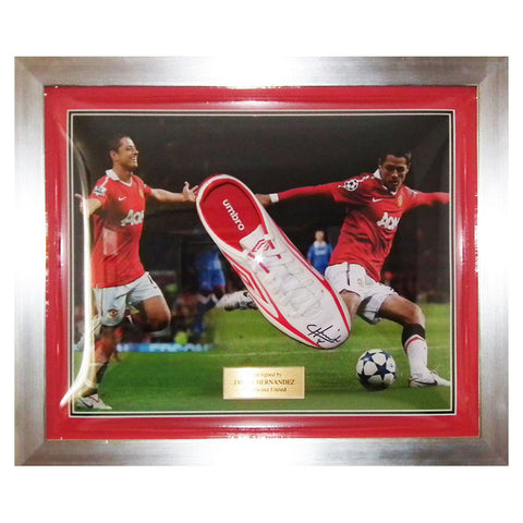 Signed Javier Hernandez Man Utd Chicharito Boot 2 Framed- Manchester United +COA