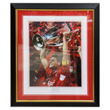Steven Gerrard Hand Signed Framed Liverpool FC Framed Champion of Europe + COA
