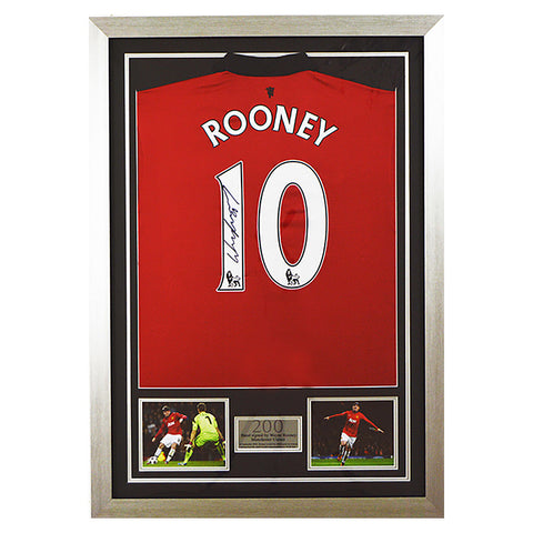 Signed Wayne Rooney 2013/14 Man Utd Shirt Jersey 1- Manchester United - Proof
