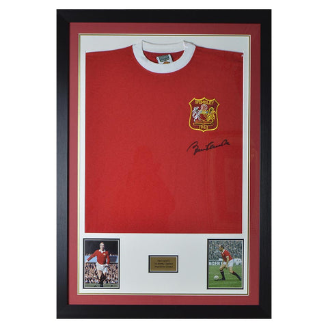 Sir Bobby Charlton Signed Man Utd 1963 Cup Final Shirt 1- Manchester United