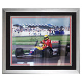 Signed Nigel Mansell Large F1 Photo Framed Photo - Senna -Photo Proof & COA