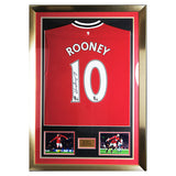 Signed Wayne Rooney Man Utd No.10 Framed Shirt - Manchester United +COA & Proof