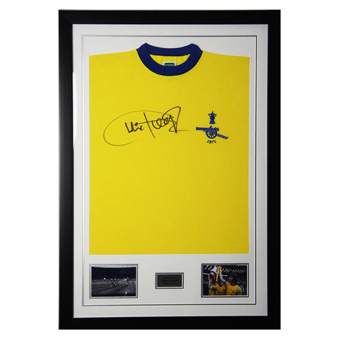Signed Charlie George Arsenal FC Legend Shirt - 1971 FA Cup Final