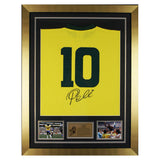 Hand Signed Pele Brazil Framed Shirt Jersey - Football Legend -Photo Proof & COA