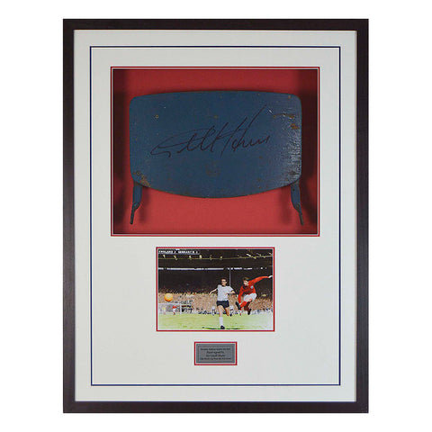 Genuine England Wembley Seat Back - Hand signed by Sir Geoff Hurst