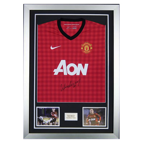 Wayne Rooney Signed 2012/13 Man Utd Shirt Jersey 1- Manchester United - Proof