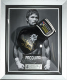 Signed Manny Pacquiao Cleto Reyes Black Pro Fight Glove Framed- Pacman