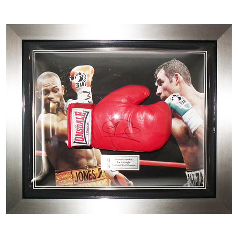 Hand Signed Joe Calzaghe Lonsdale Boxing Framed Glove - Undefeated Display + COA