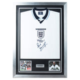 Signed Paul Gascoigne England Football 1996 Euro Shirt- Gazza - COA - Spurs