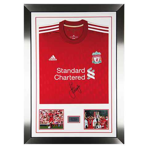 Hand Signed Jamie Carragher Liverpool FC Framed Jersey Shirt NEW - England + COA